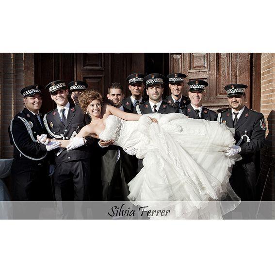 Police wedding, policías, boda, wedding, foto de grupo original.