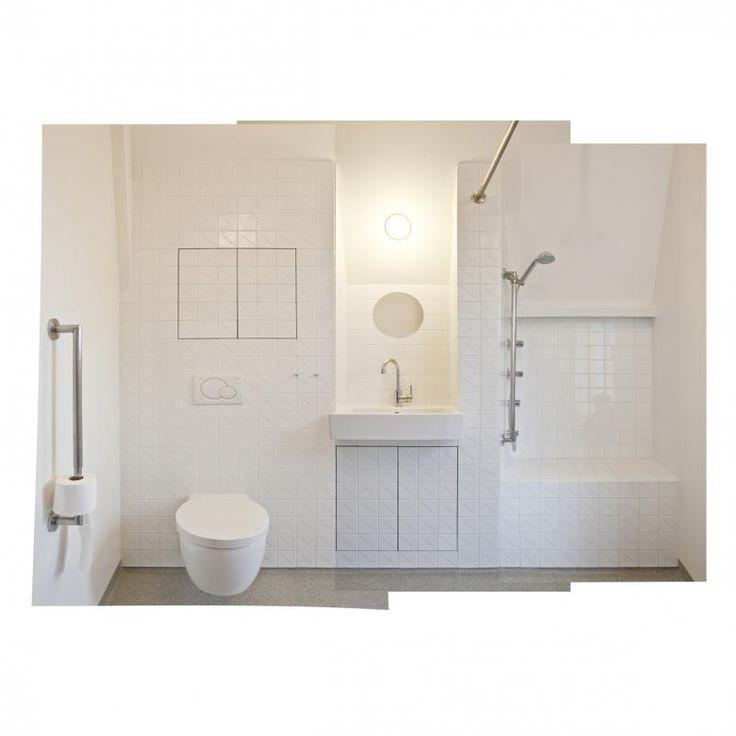 25 beste idee n over betegelde badkamers op pinterest - Betegelde vloer badkamer ...