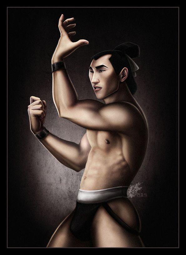 Disney Princes Strip Down, Shang, sexy, disney prince, mulan
