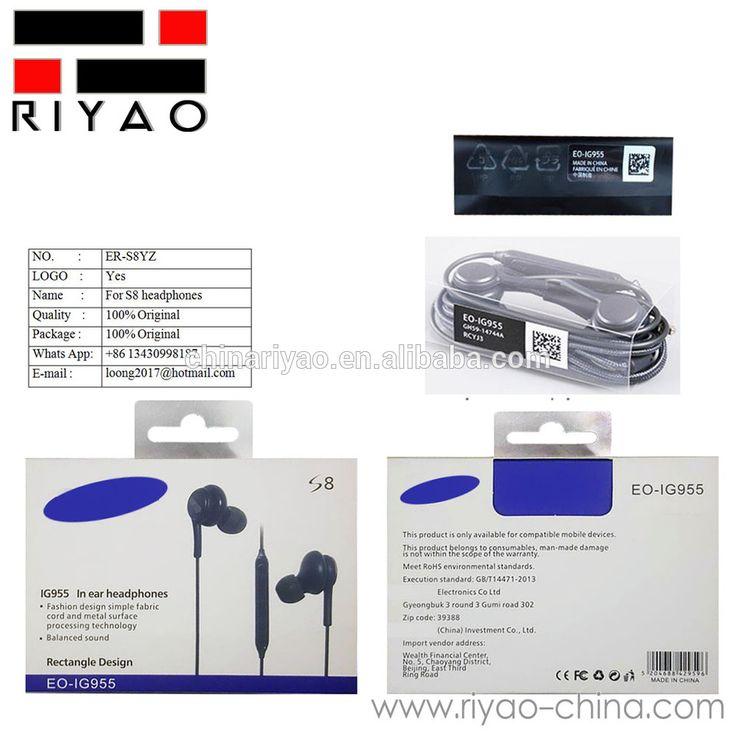ER-S8YZ Original Retail packaging akg headphones s8 Headphones Headset Handsfree For Samsung Galaxy S8 and S8 Plus