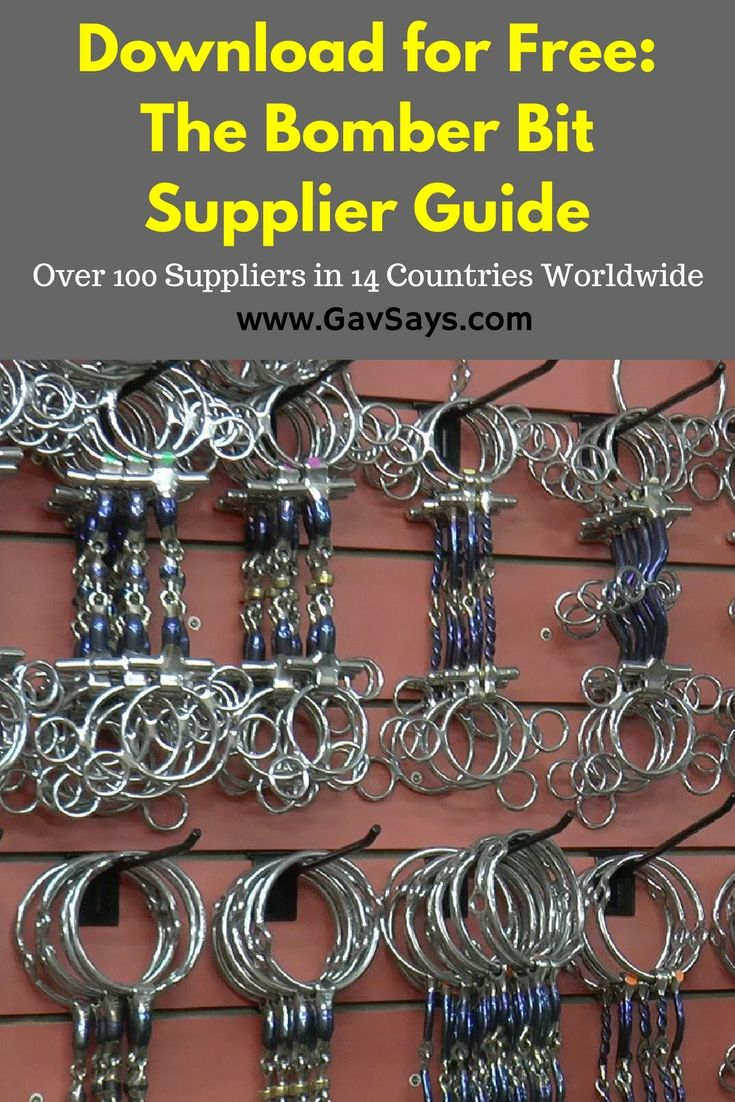 GavSays.com/bomber-bit-supplier-guide.html: Bomber Bit Supplier Guide - Download it for Free. Providing over 100 suppliers in 14 countries worldwide.