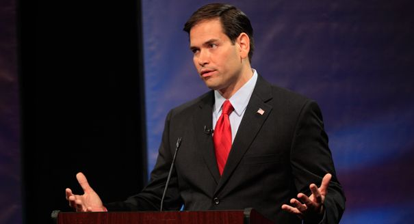 """Senator Rubio tells CNN that Former Florida Gov. Charlie Crist is """"running out of parties"""" to support."""