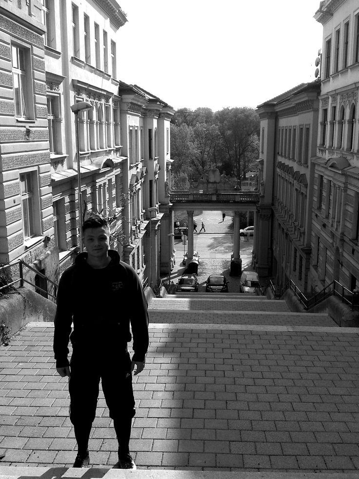 stairs running..best friend :)