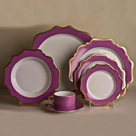 Anna's Palette Dinnerware, Purple Orchid
