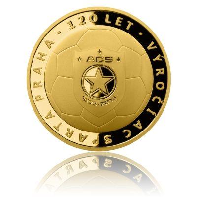 Zlatá uncová medaile 120 let AC Sparta Praha proof | Česká mincovna