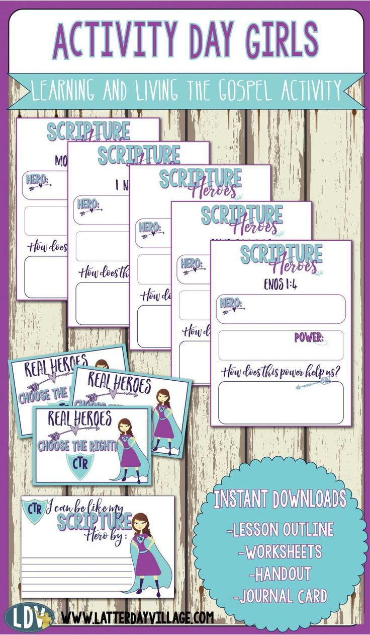 Activity Day Girls: Scripture Heroes - LatterdayVillage