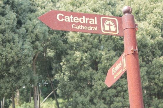 Zeichen im Salz Kathedrale von Zipaquirá - Colombia.