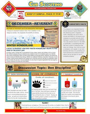 AWESOME helps for December- Theme- Reverent.  Den doodles, Den Conduct