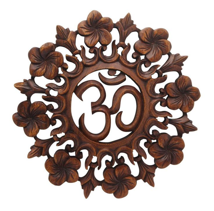Wall Hanging Plaque Hand Carved Wooden OM Medallion Zen Art Yoga Buddha Gift New | eBay