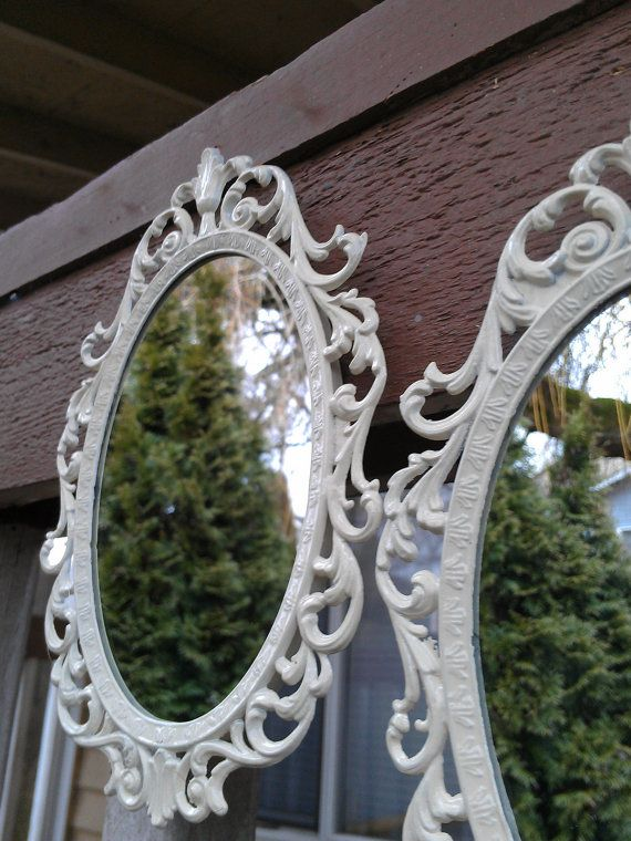Fairy Princess Mirror Set of Two in Vintage White  by SecretWindow, $36.00