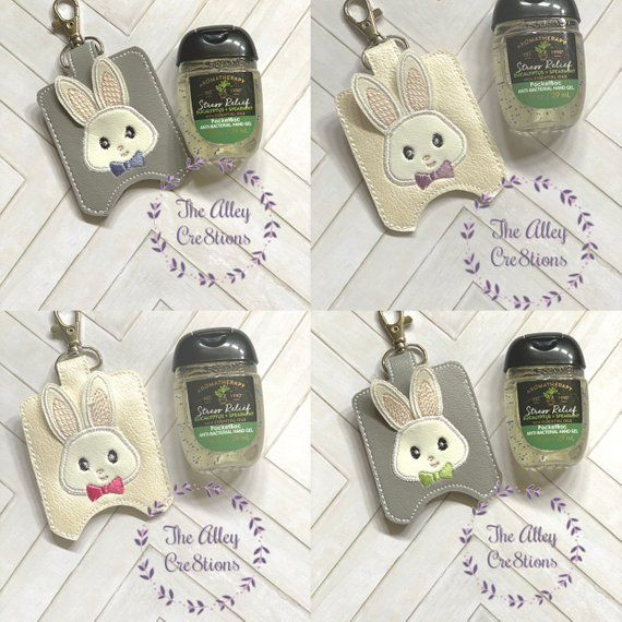 Ready To Ship 3d Bunny Antibacterial Hand Sanitizer Pocket Bac