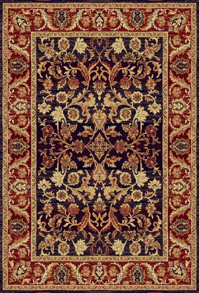Teppich Orientalisch 250x350 Cm 100 Wolle Blau Rot Teppich
