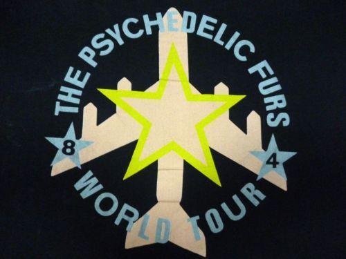 RARE VINTAGE 1984 THE PSYCHEDELIC FURS  TOUR T-SHIRT