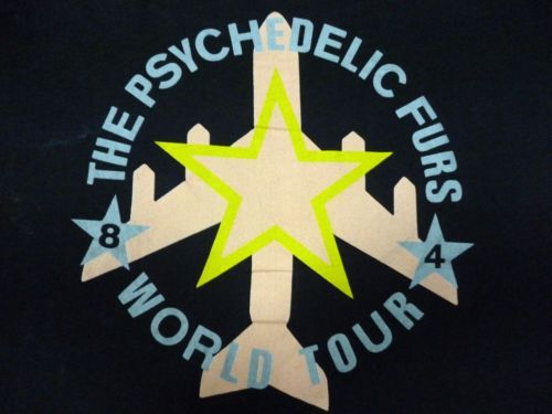 RARE VINTAGE 1984 THE PSYCHEDELIC FURS  TOUR T-SHIRT