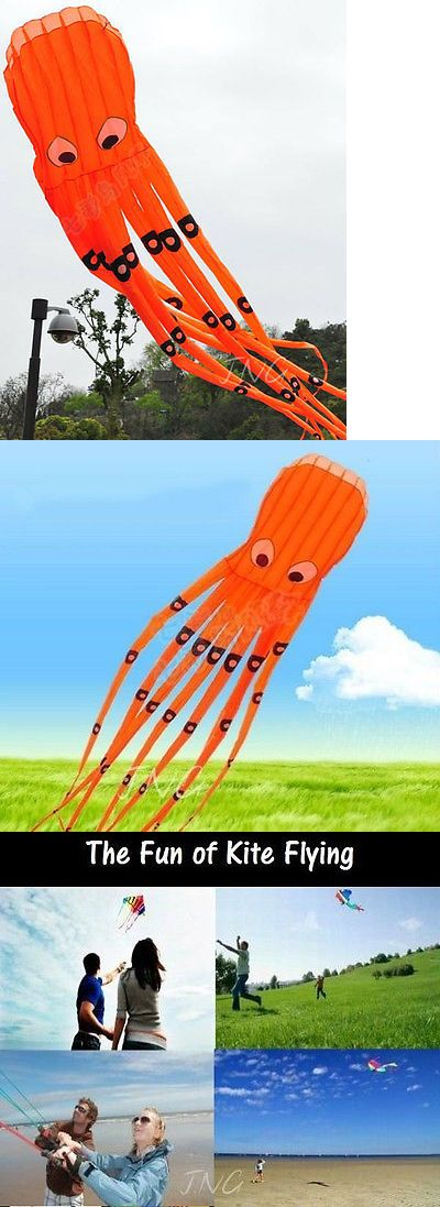 Kites 2569: Alien Attack 8M Huge Monster Octopus Parafoil Kite Toy - Orange -> BUY IT NOW ONLY: $50.9 on eBay!