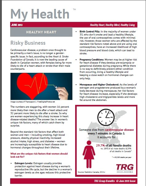 Your Health - Your Heart  TRG Group Benefits
