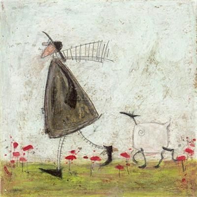 Walking the Sheepster - Paper Print by Sam Toft