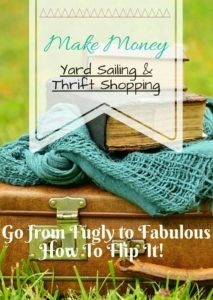 Make money turning yard sale and thrift store finds into gold by flipping and reselling them. Learn how to spot perfect money making items.
