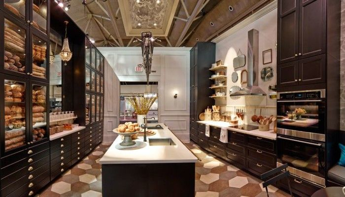 International Design Show 2015, IKEA the Style at Home kitchen was channeling a Parisian bistro. I adore the black cabinetry and would love to work on a kitchen using it. Any takers? :) I believe it's the Laxarby black-brown.