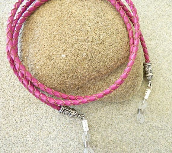 CORDON LUNETTES BIJOU cuir.  Leather eyeglass chain