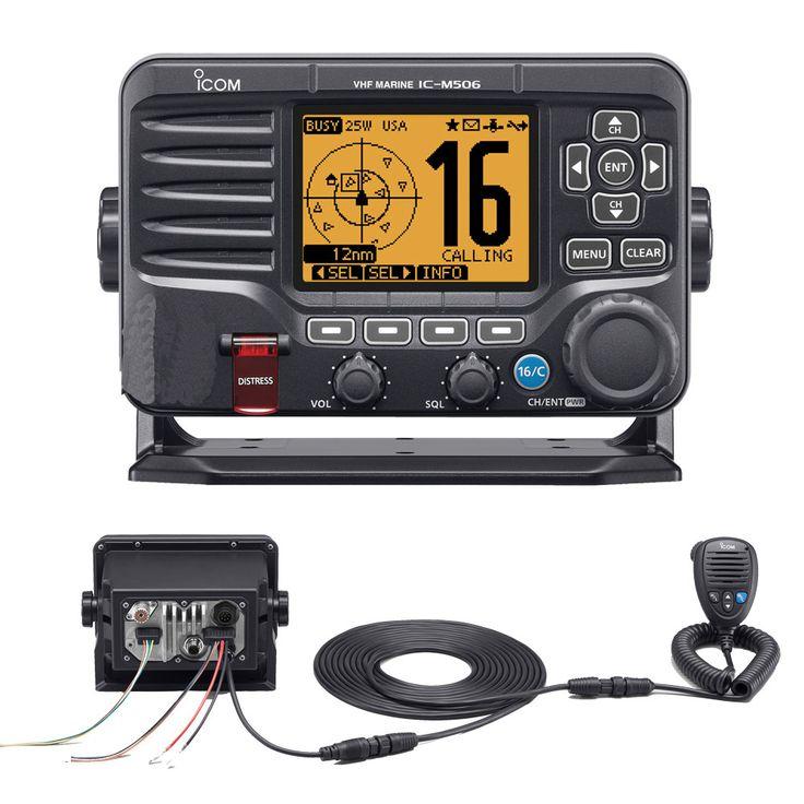 Icom M506 VHF Fixed Mount w/Rear Mic, AIS & NMEA 0183/2000® - Black