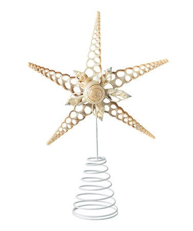 Take a look at this Seashell Star Tree Topper by Grasslands Road on #zulily today! $12 !!