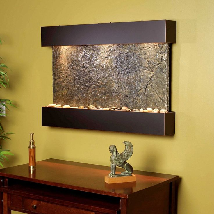 Adagio Reflection Creek Wall Fountain - Indoor Wall Fountains at Simply Fountains