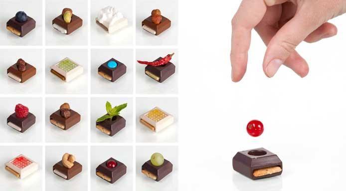Chocolate Food Design: Interchangeable Delighs by Elsa Lambinet