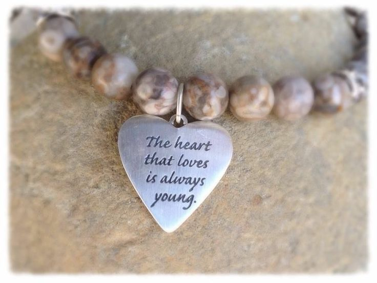 Sterling Silver Message Charm Bracelet