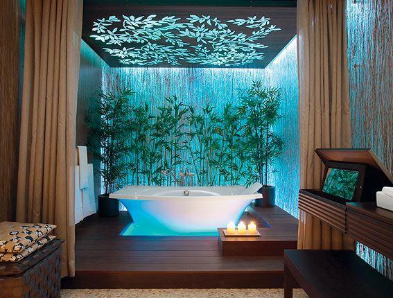 I think this would be soooo relaxing.: Bathroom Design, Idea, Bathtubs, Bathroom Lighting, Bathroomdesign, Contemporary Bathroom, Dream Bathroom, Bathroom Decoration, Spa Bathroom