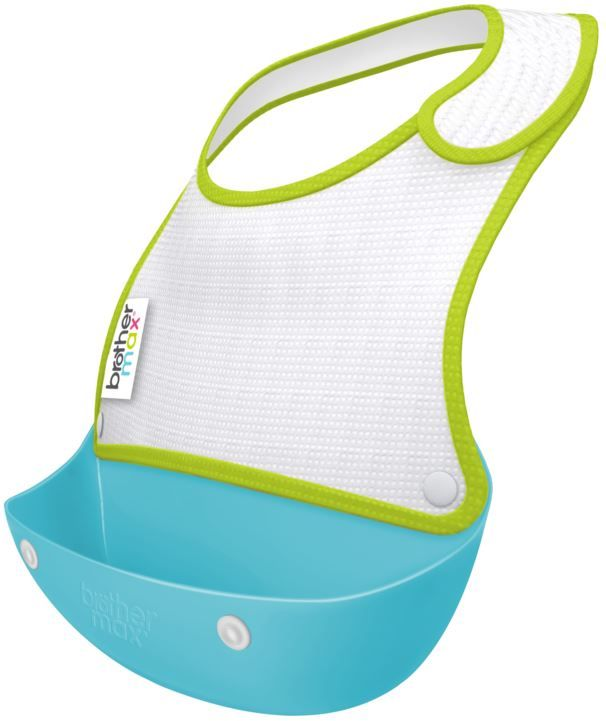 Made from waterproof lined soft cotton with easy-to-use side-opening Velcro, which is both comfortable for your little one and practical for weaning. The flexible & removable crumb catcher sits away from baby to catch dropped food while also doubling as travel case for bib & cutlery. It is perfect for tidying away after a messy meal! The pack of two means there's one for now and one for later. Visit www.brothermax.co.za