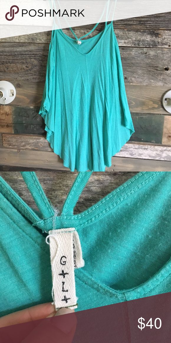 Free People Blue Strappy Top Worn only a handful of times Free People Tops