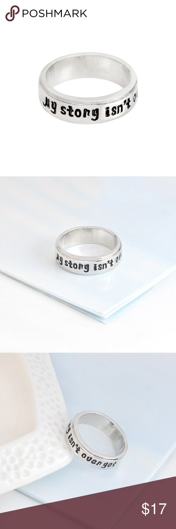 My story isn't over yet Ring Suicide Awareness and Prevention ring.  Semicolon symbol.  My story isn't over yet. Unisex. Jewelry Rings