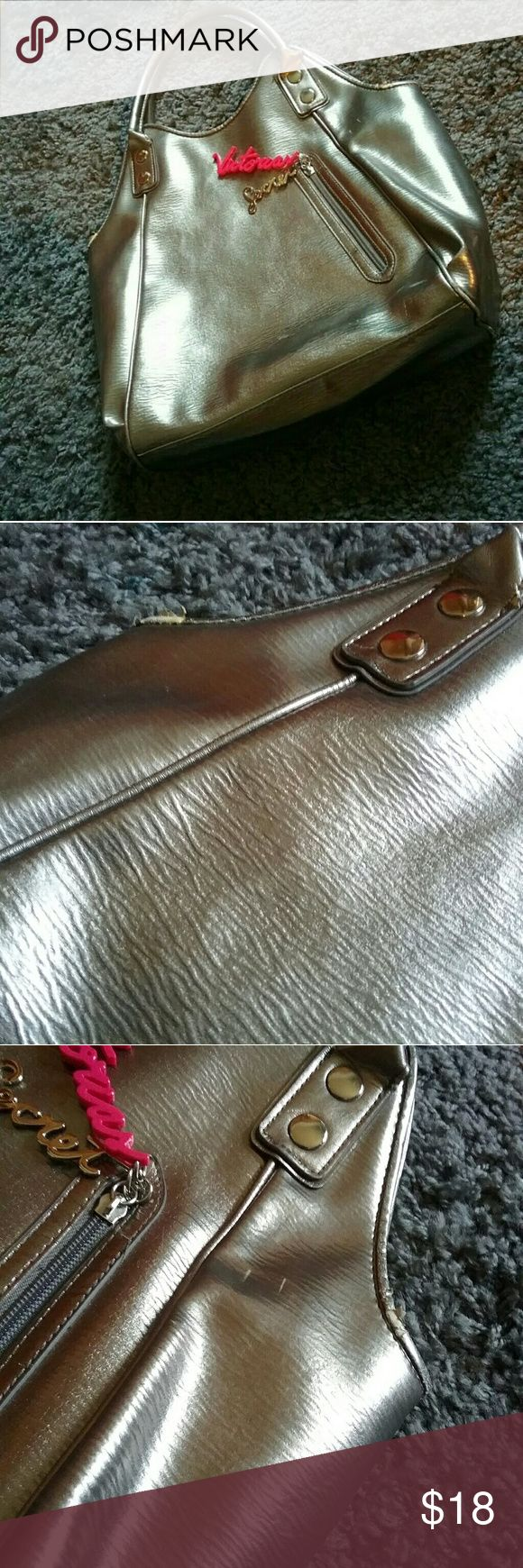 Victoria's Secret Metallic Handbag GREAT purse with a lot of Room! Gold metallic has a bit of wear see photos, in great condition! Victoria's Secret Bags