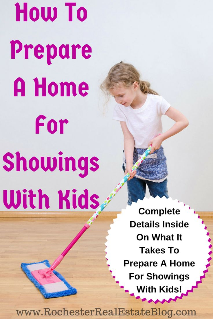 How To Prepare A Home For Showings When Selling A Home With Kids: http://www.rochesterrealestateblog.com/tips-for-selling-a-home-with-kids/