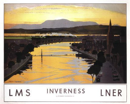 Inverness Railway vintage poster