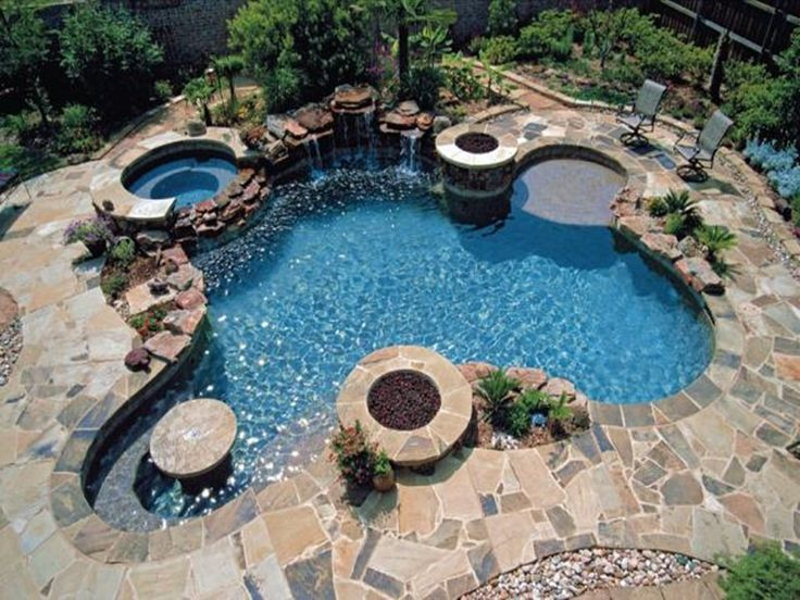 Pool Designs With Spa 41 best fiberglass pools images on pinterest | pool ideas