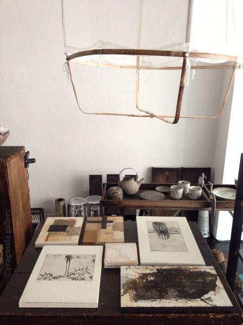 "pragmata-gallery: """"Christmas wish list I"" Paintings, etchings, encaustic, ceramics. 「クリスマスの欲しい物リスト I 」 絵画、版画、陶器 """