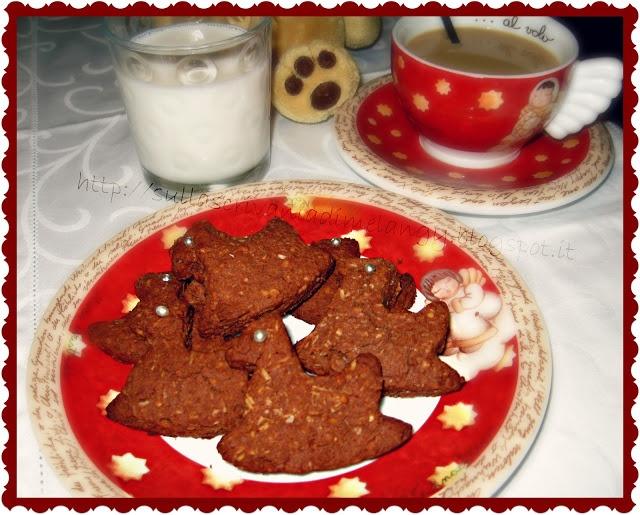 Biscotti di riso con cacao, mandorle e cocco