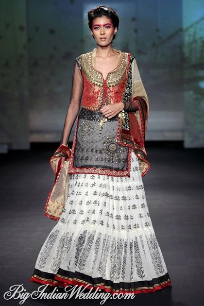 Anju Modi wedding sharara