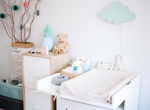 Una habitaci n infantil en rosa y mint para ella - Habitacion infantil rosa ...