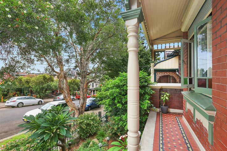 Traditional tessellated-tiled front verandah