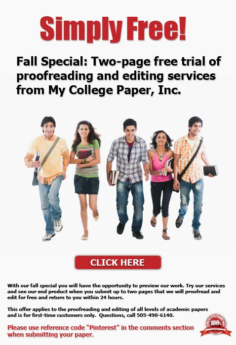 College paper proofreader