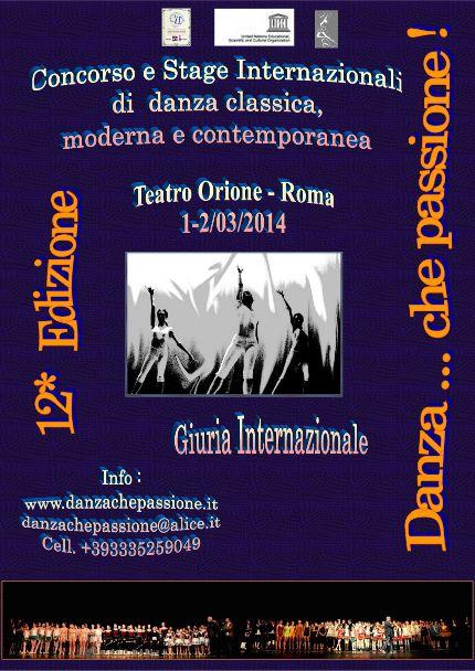 DANZA...CHE PASSIONE:Concorso e Stage Internazionali di Danza « weekendinpalcoscenico la danza palco e web | IL PORTALE DELLA DANZA ITALIANA | weekendinpalcoscenico.it