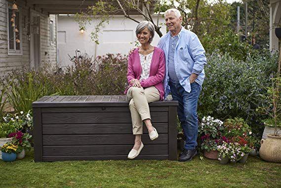 Plastic Deck Storage Container Box Outdoor Patio Garden Furniture