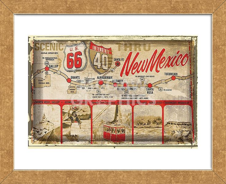 Scenic US 66 thru New Mexico (Framed)