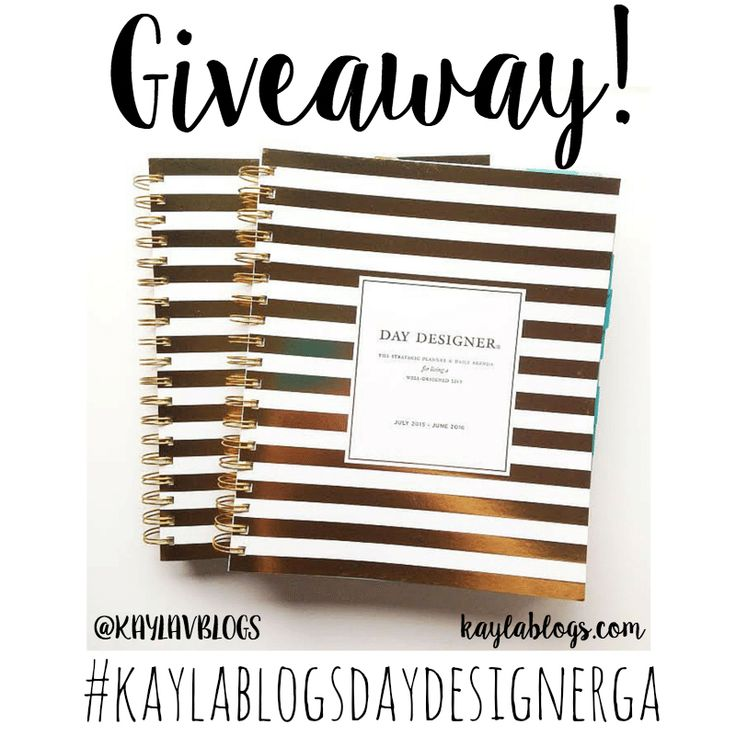 I decided to get two Day Designer planners! One for me and one for... you?! That's right, I'm holding a GIVEAWAY for a Day Designer Blue Sky planner!