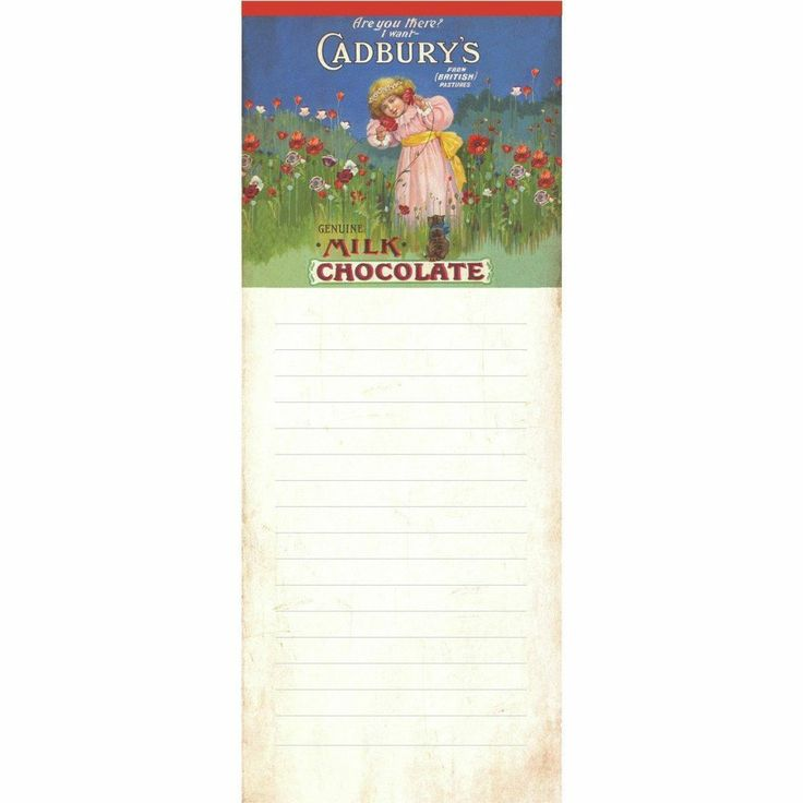 Cadbury's (Poppyfield) Magnetic Memo Pad