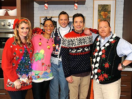 Jimmy Fallon and The Chew Throw an Ugly Sweater Party | Ugliest ...