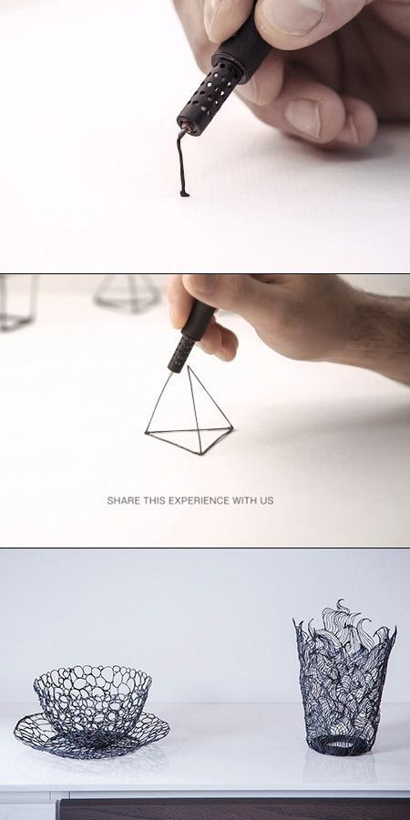 Lix is World's Smallest 3D Printing Pen, Lets You Doodle in the Air!!!! #3dprinting I'd never do anything else!